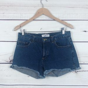 American Apparel Dark Blue Vintage Jean Shorts 28
